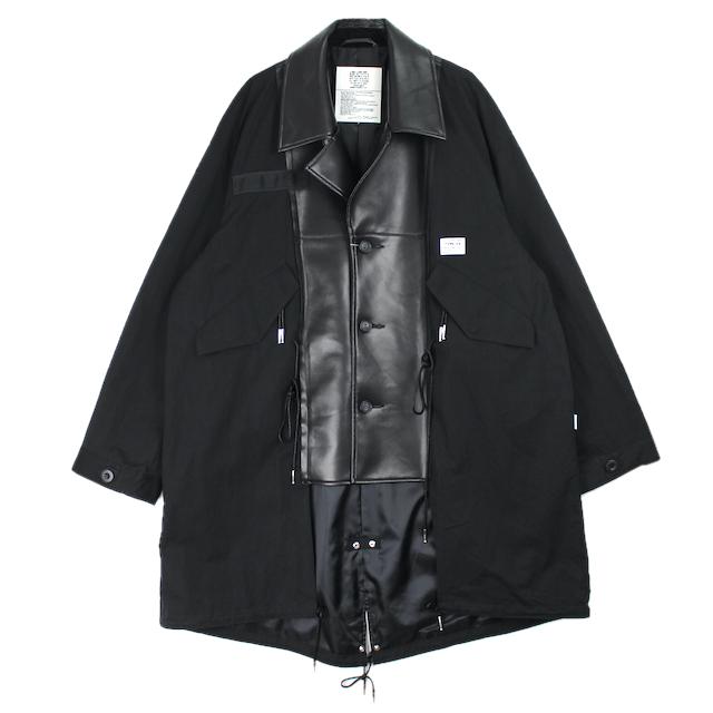 elephant TRIBAL fabrics HYBRID M65 CAR COAT BLACK