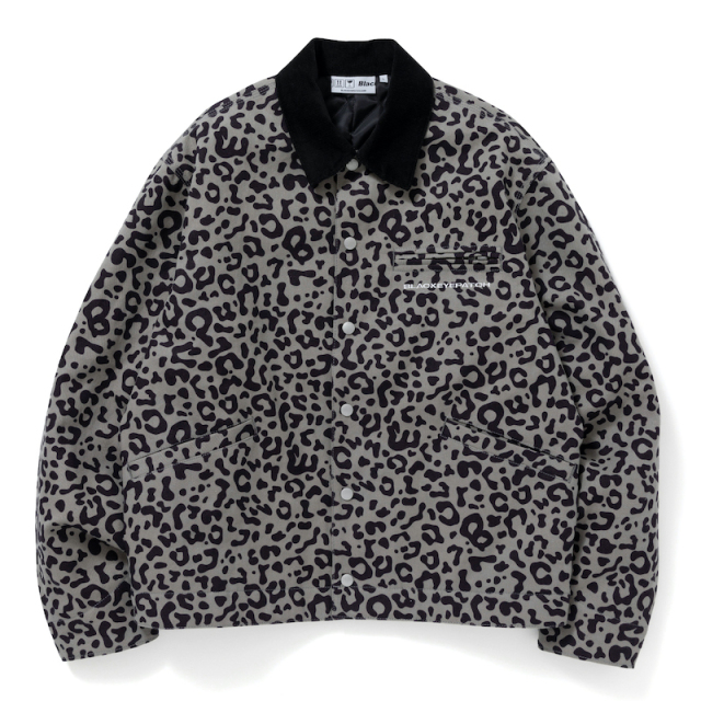 BlackEyePatch LEOPARD DUCK JACKET GRAY