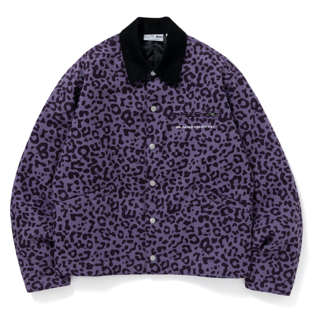 BlackEyePatch LEOPARD DUCK JACKET PURPLE