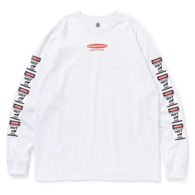 BlackEyePatch DANGER HOT LABEL L/S TEE WHITE