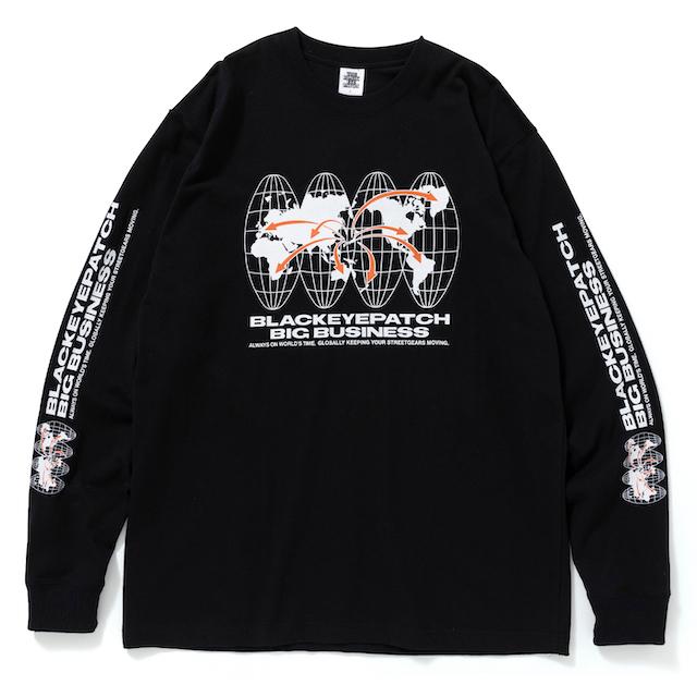 BlackEyePatch BIG BUSINESS L/S TEE BLACK
