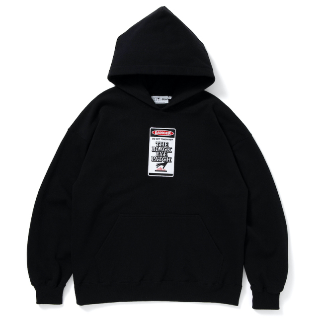 [再入荷]BlackEyePatch DANGER HOT LABEL HOODIE BLACK