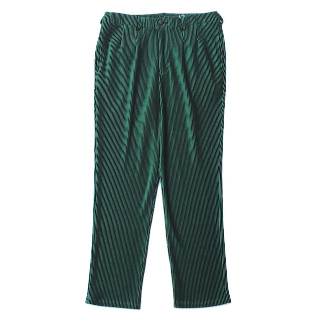 JIEDA RIPPLE TAPERED PANTS BLACK/GREEN