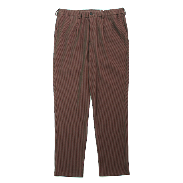 JIEDA RIPPLE TAPERED PANTS BROWN/KHAKI