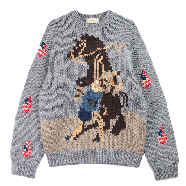 JIEDA HORSE OVER KNIT GRAY