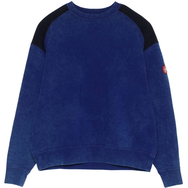 C.E/CAVEMPT OVERDYE PANEL SHOULDER CREW NECK