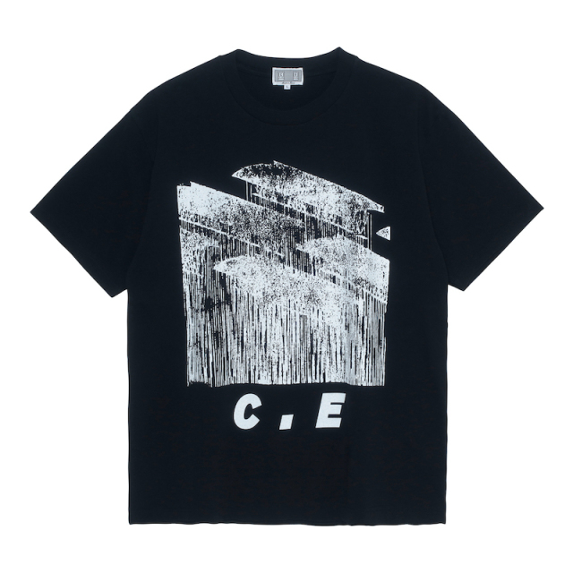 C.E/CAVEMPT STAMPED C.E T BLACK