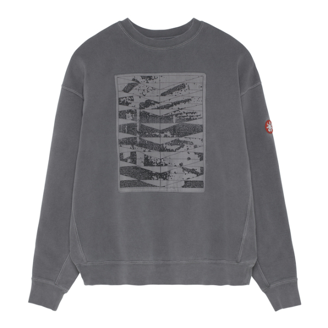 C.E/CAVEMPT OVERDYE CONFORM CREW NECK BROWN