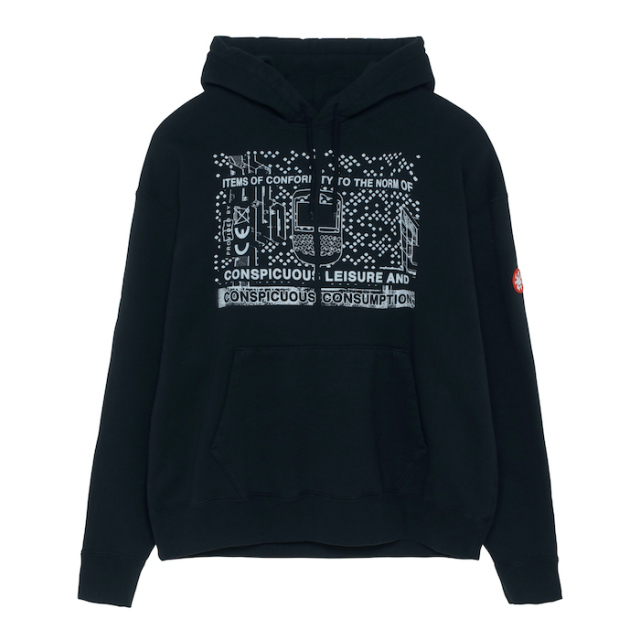 C.E/CAVEMPT CONSUMPTION HEAVY HOODIE BLACK