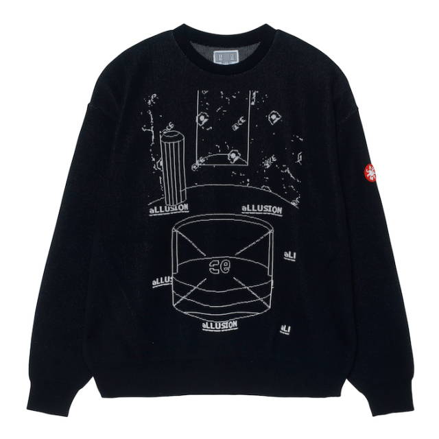 C.E/CAVEMPT ALLUSION KNIT BLACK