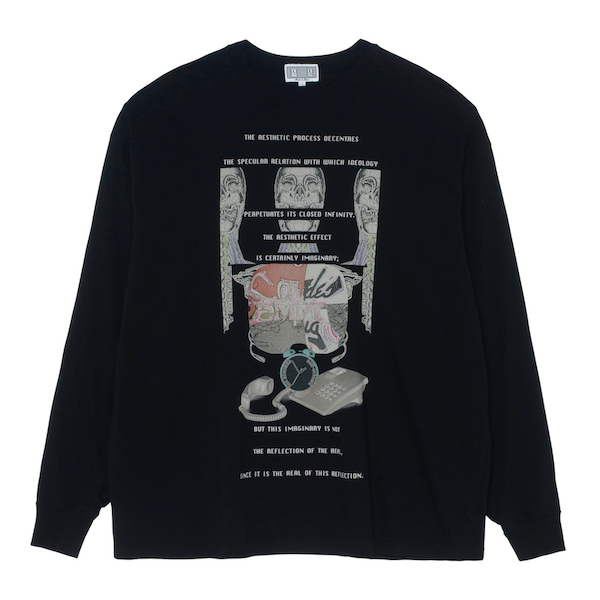 C.E/CAVEMPT MD DECENTRE LONG SLEEVE T BLACK