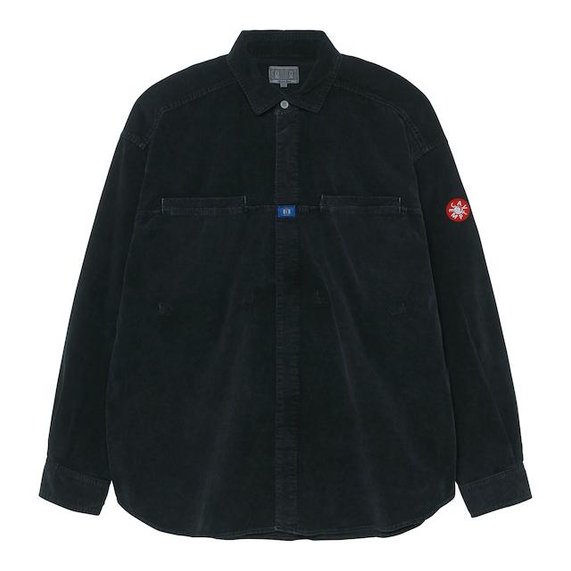 C.E/CAVEMPT CORD DESIGN BIG SHIRT BLACK