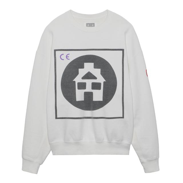 C.E/CAVEMPT CIRCLE HOME CREW NECK WHITE