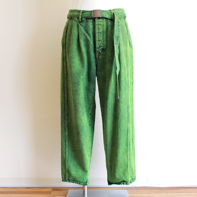 doublet OVER-DYED SILK DENIM WIDE TAPERED TROUSER