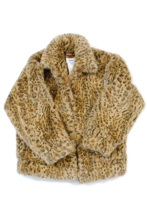 doublet 18AW04BL41 ANIMAL HAND-PAINTED FUR JACKET