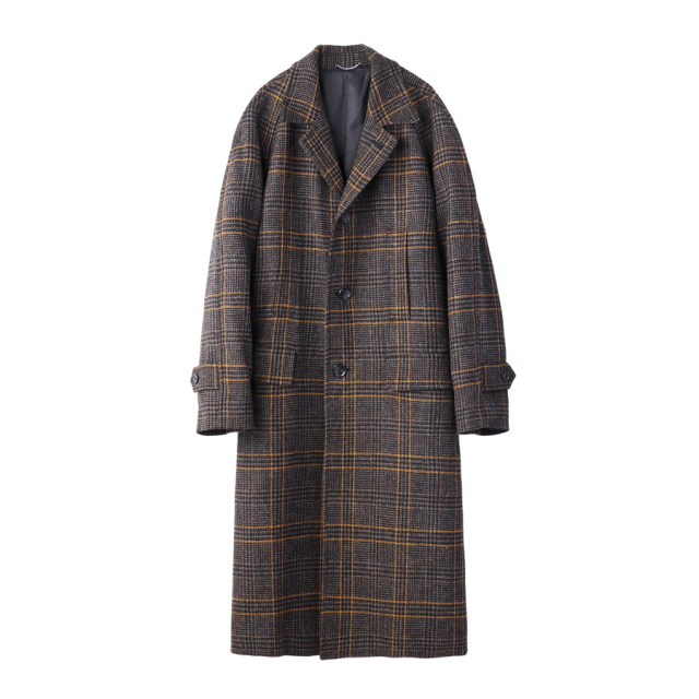 JOHNLAWRENCESULLIVAN CHECKED TWEED OVERSIZED COAT