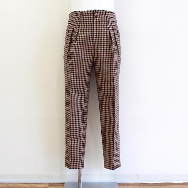 JIEDA GINGHAM 3TUCK SLACKS