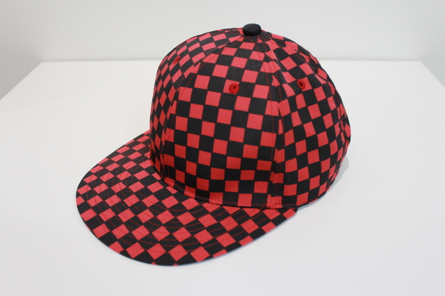 "50%OFF NEONSIGN/ネオンサイン BASE BALL CAP ""CHECKER FLAG"" RD/BK"
