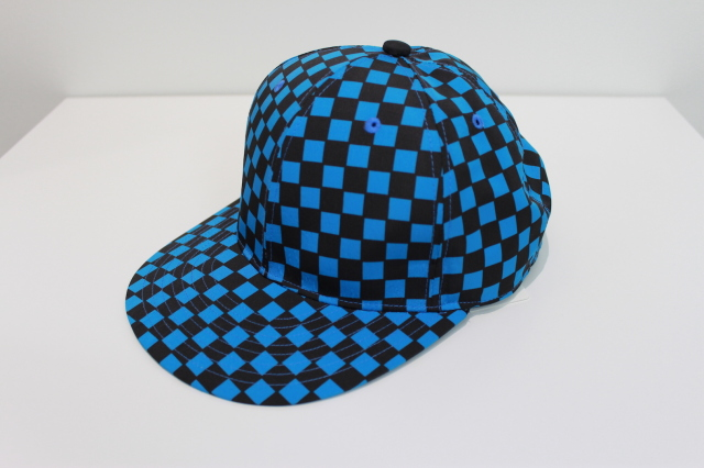 "50%OFF NEONSIGN/ネオンサイン BASE BALL CAP ""CHECKER FLAG"" BL/BK"