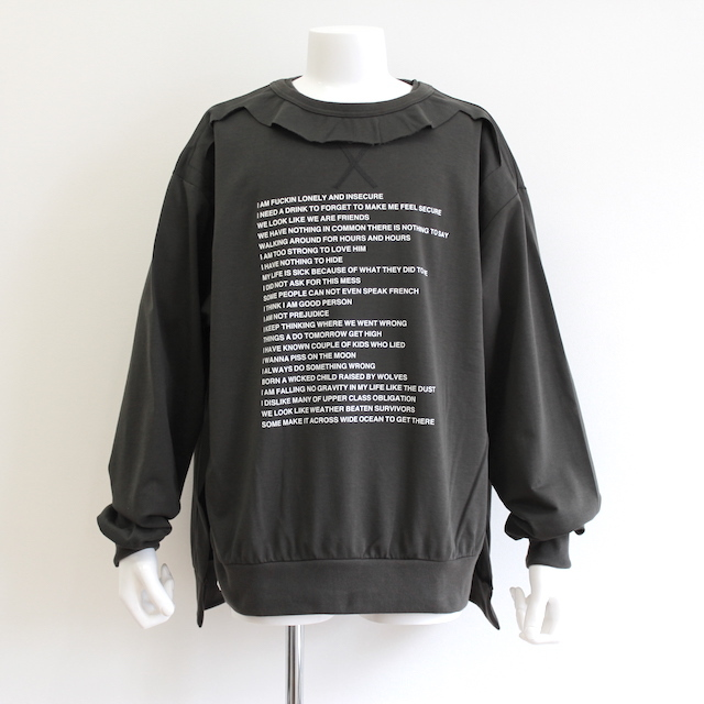 "NEONSIGN TRIPLE MIX SWEAT ""POEM&SICK"" CHL"