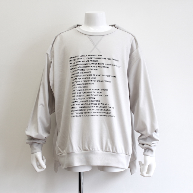 "NEONSIGN TRIPLE MIX SWEAT ""POEM&SICK"" ICE"