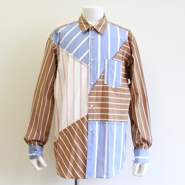 KUDOS BLUE PRINT STRIPE SHIRT