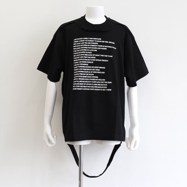 "NEONSIGN TRIPLE MIX T-SHIRT ""POEM&LONER"" BLK"