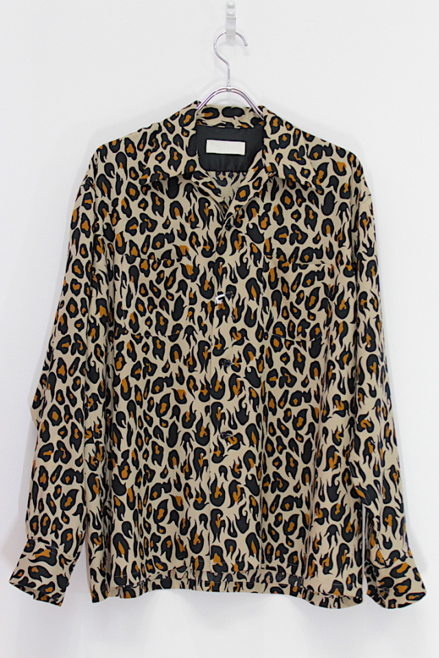 "50%OFF NEONSIGN/ネオンサイン BREAKER SHIRT L/S ""VIOLENT LEOPARD"" CAMEL"
