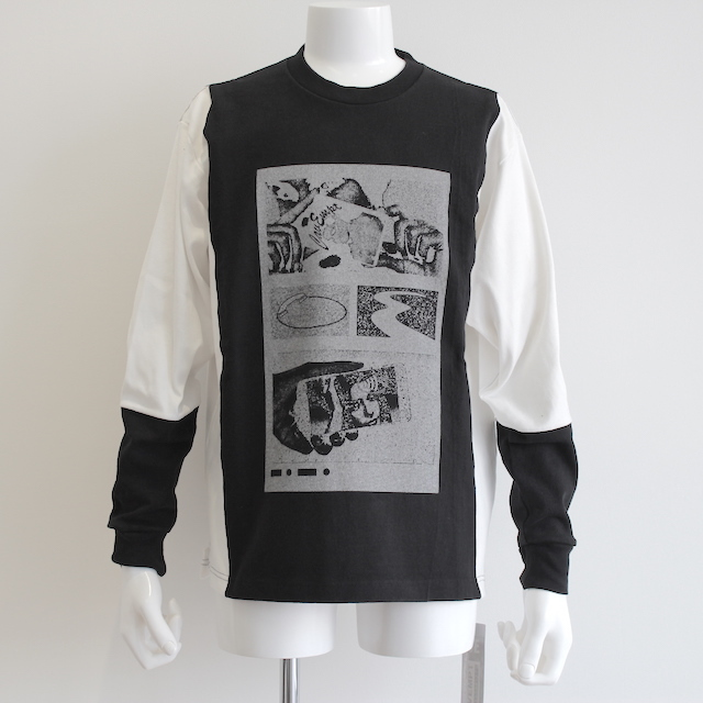C.E/CAVEMPT SILVER CARD LONG SLEEVE T