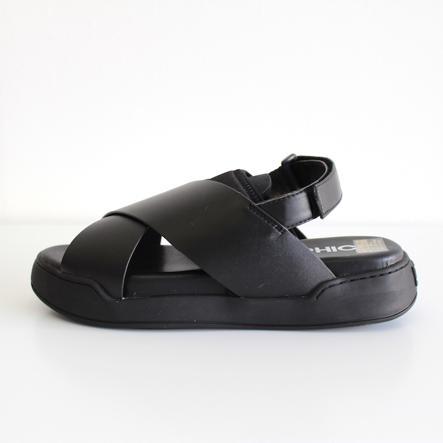 ORPHIC STACK SANDAL BLACK