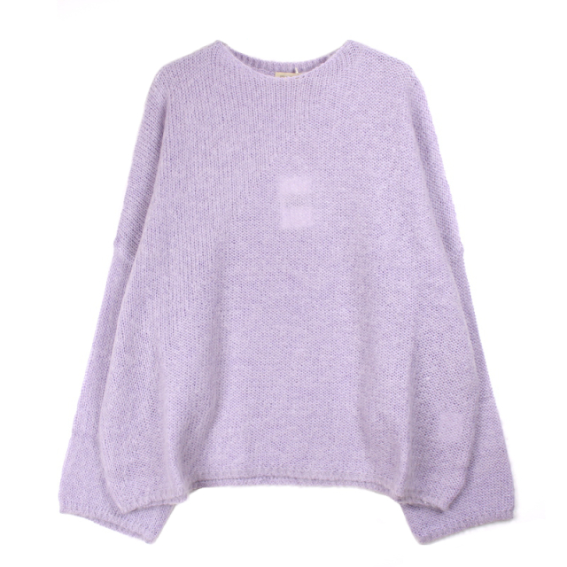 YSTRDY's TMRRW MOHAIR BAGGY SWEATER PURPLE