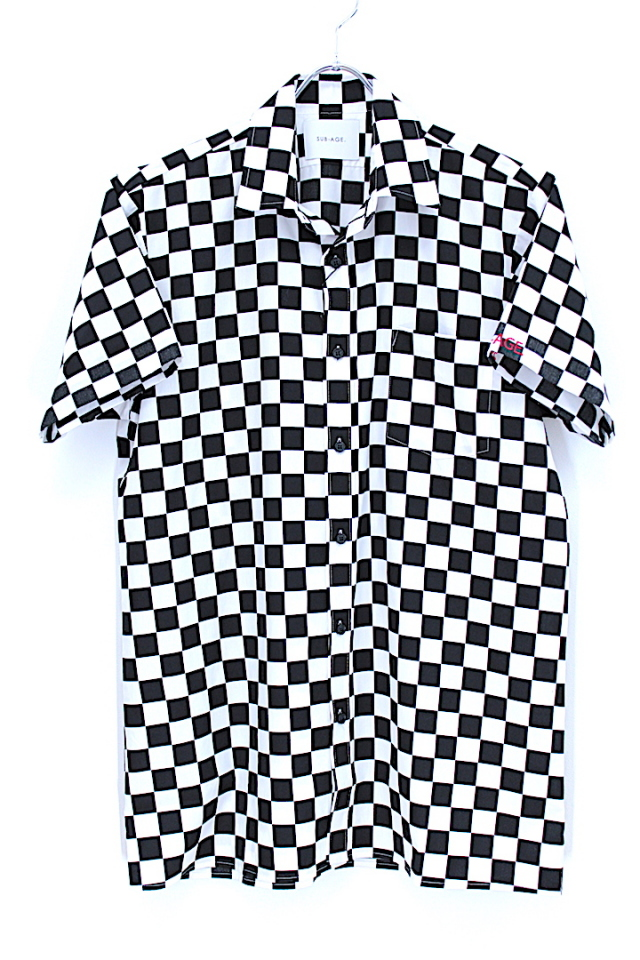 50%OFF SUB-AGE/サベージ CHECKERFLAG SHIRT S/S 17SS-SASH-02