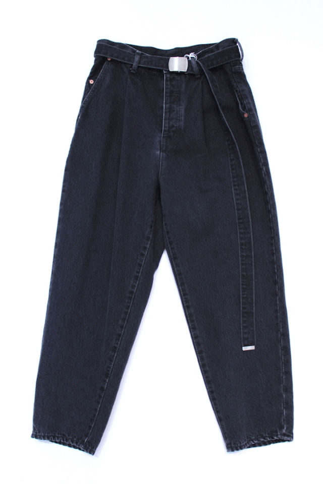 40%OFF doublet/ダブレット SILK DENIM WIDE TROUSER
