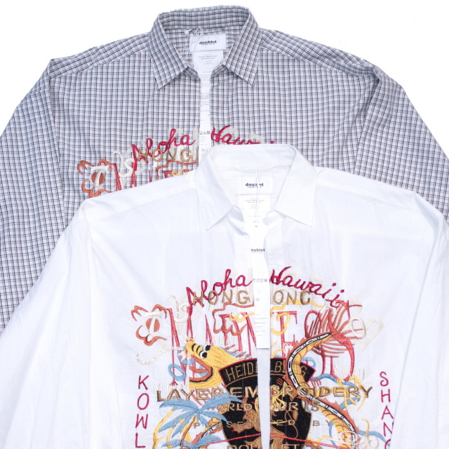 doublet/ダブレット CHAOS EMBROIDERY SKIPPER SHIRT