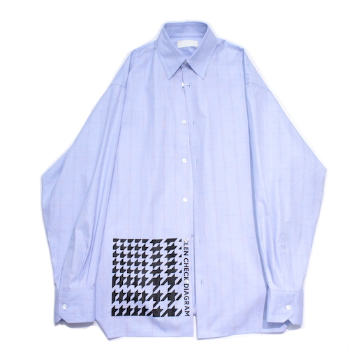 "NEONSIGN/ネオンサイン CONNECTOR SHIRT ""GLENCHECK DIAGRAM"" 787"