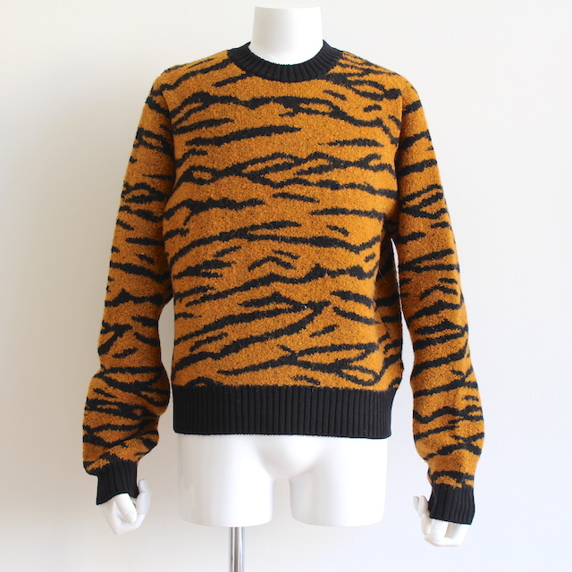 JOHNLAWRENCESULLIVAN TIGER JACQUARD KNIT SWEATER