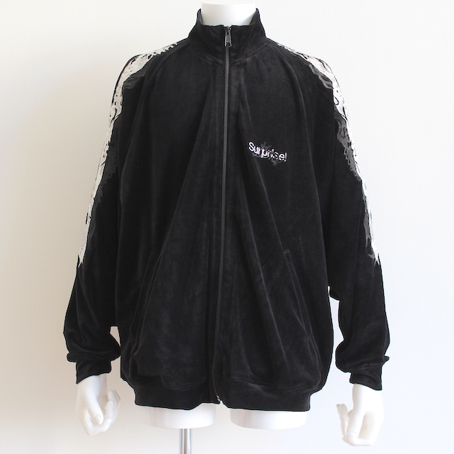doublet LINED CHAOS EMBROIDERY TRACK JACKET BLK