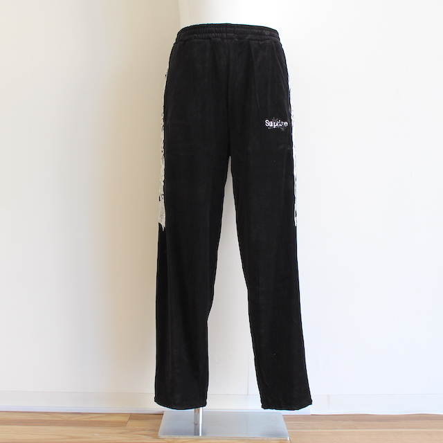 doublet LINED CHAOS EMBROIDERY TRACK PANTS BLK