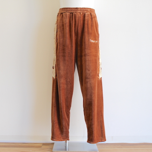 doublet LINED CHAOS EMBROIDERY TRACK PANTS CML