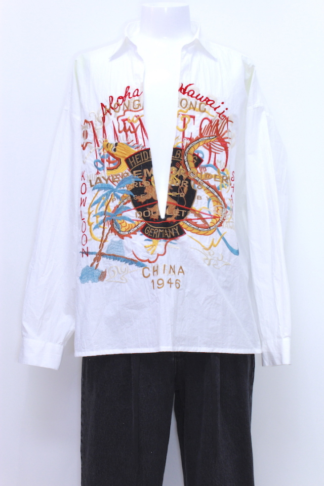 doublet 18SS09SH47 CHAOS EMBROIDERY SKIPPER SHIRT 2カラー
