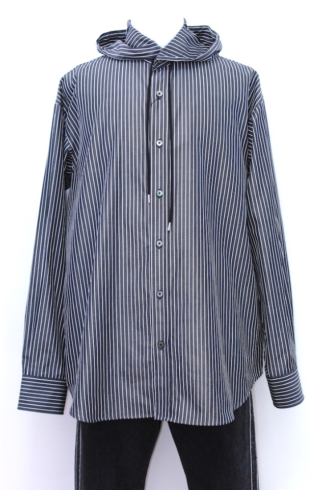 JOHNLAWRENCESULLIVAN 3A003-0218-31 STRIPE HOODIE SHIRT 2カラー