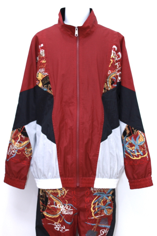 doublet 18SS06BL62 BREAK UP EMBROIDERY TRACK JACKET