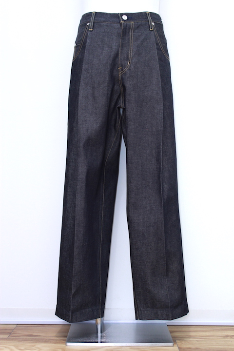 "NEONSIGN 343 WIDE DENIM SLACKS ""RIGID"""