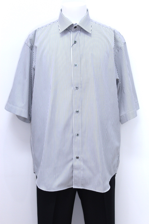 JOHNLAWRENCESULLIVAN 3A018-0318-71 OVERSIZED STRIPE SHIRT S/S 2カラー