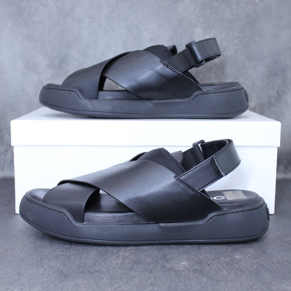 ORPHIC ST01A18 STACK SANDALS BLACK