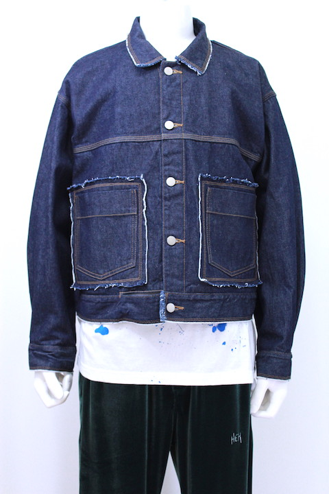 JIEDA 18W-JK05-B DENIM SHORT JACKET OW
