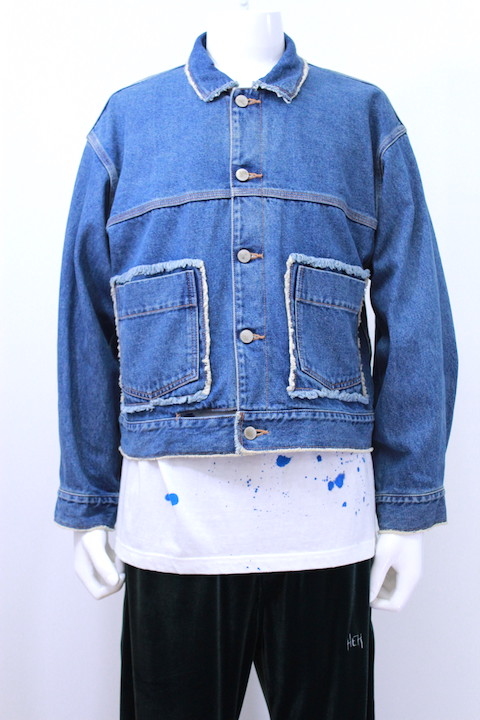 JIEDA 18W-JK05-B DENIM SHORT JACKET USED