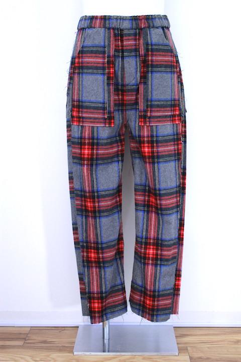 JIEDA 18W-PT02-A SIDE SLIT NEL PANTS 2カラー