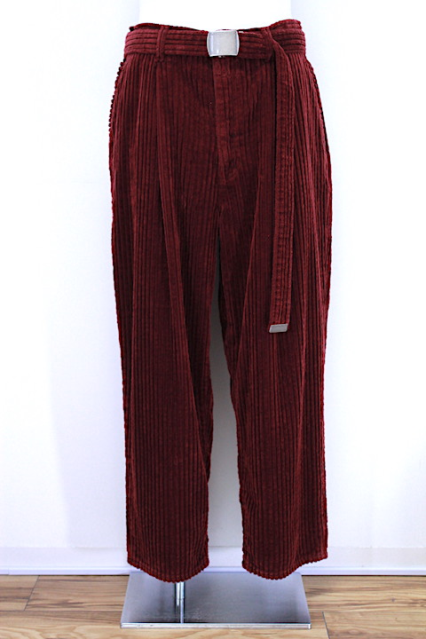 doublet 18AW10PT76 CORDUROY OVERSIZED TROUSER 2カラー