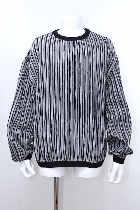 R.M GANG R044 RIPPLE STRIPE CREW NECK SWEAT 2カラー